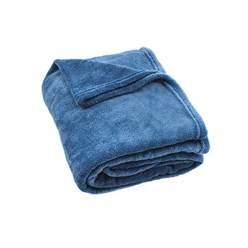 Cozy Fleece Thcoraldenim Super Soft Plush Throw, Denim (Throw Denim)