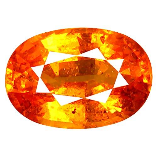 2.07 ct AAA+ Oval Shape (9 x 6 mm) Unheated/Untreated Fanta Orange Tanzanian Spessartine Garnet Natural Loose Gemstone