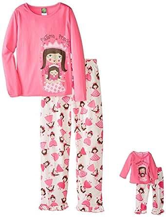 Amazon.com  Dollie   Me Big Girls  Pajama Princess Sleepwear Set ... 97ebd4827