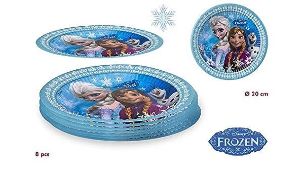 DISOK - Pack 8 Platos Frozen - Platos de Frozen Cumpleaños ...