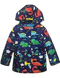 YNIQ Girl Baby Kid Waterproof Hooded Coat Jacket Outwear Raincoat Hoodies for Boys 4T 5T Blue