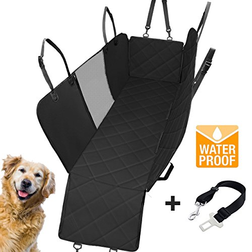 Adorabae Dog Pet Car Seat Cover Hammock Heavy Duty Waterproof Scratch Proof Nonslip Durable Back Seat Covers with Viewing Window for Cars Trucks and SUVs