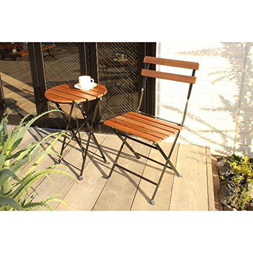 インテリア 家具 便利 おしゃれ PRAIRIE フォールディングサイドテーブル単品 ブラック B01HT346Q4