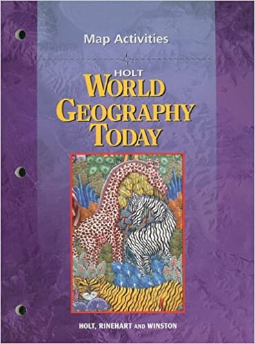 Amazoncom Holt World Geography Today Map Activities - Us map holt social studies