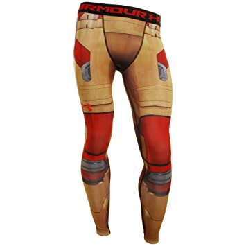 18be7eb08ca98 Under Armour Men's Alter Ego Iron Man Compression Leggings Extra Extra  Large Vegas Gold