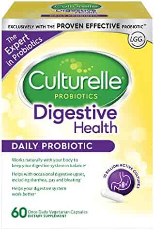 Culturelle Daily Probiotic, Digestive Health Capsules, Works Naturally with Your Body to Keep Digestive System in Balance*, With the Proven Effective Probiotic, 60 Count