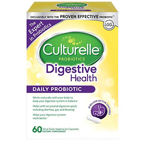 Probiotic Blend - Culturelle Daily Probiotic, 60 count Digestive Health Capsules | Works Naturally with Your Body to Keep Digestive System in Balance* | With the Proven Effective Probiotic