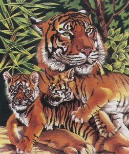 Reeves 10 Inch x12 Inch Pencil By Number Kit - Tiger & Cubs by Reeves (Image #1)