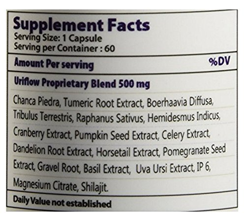 (1) Uriflow Natural Treatment for Kidney Stones - 60 Capsule by Uriflow