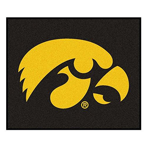 Rug Iowa Tailgater - NCAA University of Iowa Hawkeyes Tailgater Mat Rectangular Outdoor Area Rug