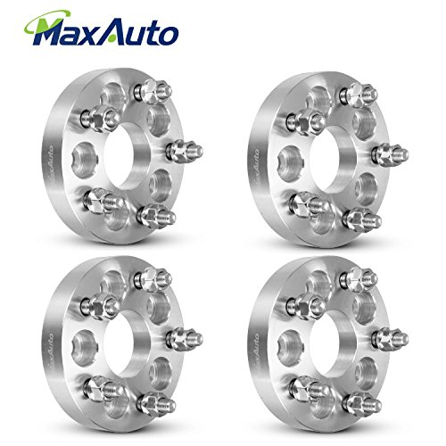 Adapter Chrysler Pt Cruiser - MaxAuto 4Pcs 5x100 to 5x112 Wheel Spacers (12x1.5 Studs,57.1mm Bore), 1