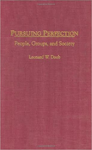 Pursuing Perfection: People, Groups, and Society