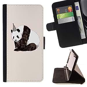 For Sony Xperia Style T3 Case , Cumpleaños Sad Naturaleza Animales Derechos- la tarjeta de Crédito Slots PU Funda de cuero Monedero caso cubierta de piel