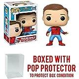 Funko Pop! Marvel: Spider-Man Homecoming - Walmart Exclusive Unmasked Spider-Man Homemade Suit Vinyl Figure (Bundled with Pop BOX PROTECTOR CASE)