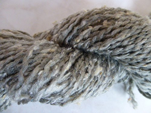 Ironstone Gray with Cream Silk Slubs Soft Dk Tweed Sport Weight (Silk Tweed Yarn)