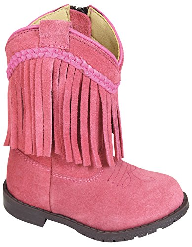 Pink Cowboy Boots For Toddlers (Smoky Mountain Toddler Western Hopalong Pink Fringe Zip Boot , 8M)