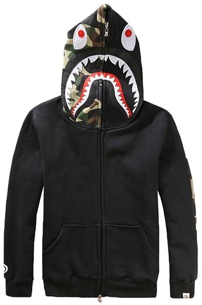 EmilyLe camisas con la impresión gorra de camuflaje y Negro Tiburón Borderie: Amazon.es: Ropa y accesorios