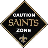 NFL New Orleans Saints Caution Wall Sign Plaque, 14″