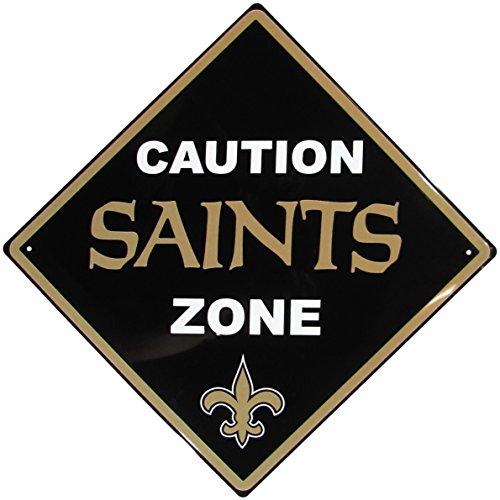 NFL New Orleans Saints Caution Wall Sign Plaque, 14