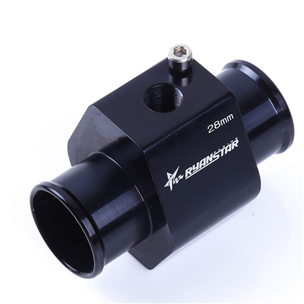 Botreelife Universal Metal Water Temp Temperature Joint Pipe Sensor Gauge Radiator Hose Adapter 30MM