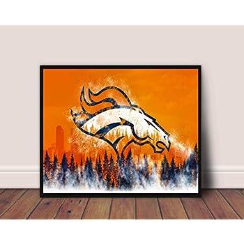 Denver Broncos Limited Poster Artwork - Professional Wall Art Merchandise (More (8x10)