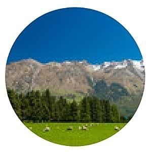 alfombrilla de ratón montañas de Nueva Zelanda - ronda - 20cm