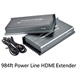 Hdmi Extender Over Home's Powerline Works Like Wireless HDMI Extender, Mirabox 984ft 1080P@60HZ PLC HDMI Sender&Receiver Point To Point With IR Remote Control