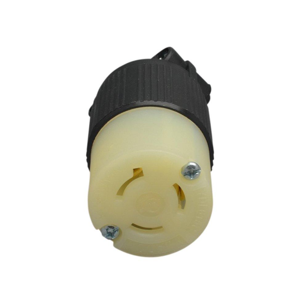 YuaDon NEMA L6-15C Locking Connector Twist Lock Socket for Generator Power 2P,3W 250V,15 Amp,Industrial Grade