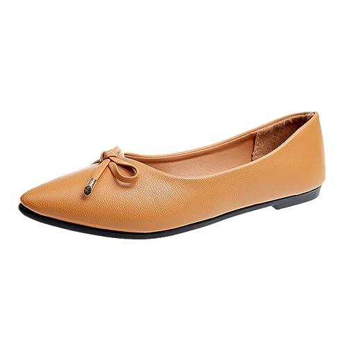 Siswong Bailarinas Mujer Partido Talón Para Bodas Zapatos de Trabajo Formal Elegante Zapatos Mocasines Zapato (