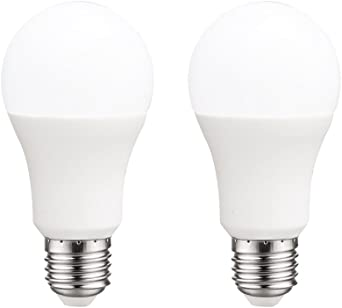 Pack 2x Bombillas estándar LED E27 10W luz fría (6000K) 806 Lm.: Amazon.es: Iluminación