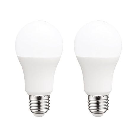 Pack 2x Bombillas estándar LED E27 10W luz calida (3000K) 806 Lm.
