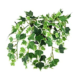 """Northlight 8"""" Green and Off White Potted Spring Artificial Ivy Bush 106"""