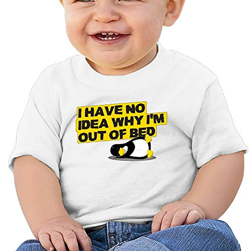Hfuwi987fwhui Baby I Have No Idea Why Out of Bed 2018 Newborn Baby Girls Boys Short Sleeve T-Shirt Top Summer Clothes Tshirts 12 Months
