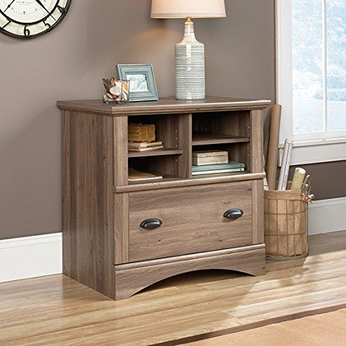 Sauder Harbor View Lateral File in Salt Oak - Lateral Wood File