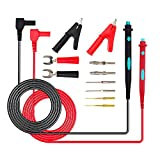 Electronic Test Leads Kits,MagicFour 1.25M Multimeter Probe Test Lead With Test Extension,Alligator Clips,Plunger Mini-Hooks,Replaceable Multimeter Probes