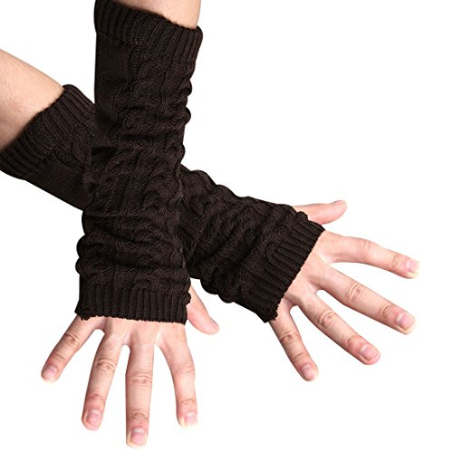 Allegra K Men Textured Fingerless Style Arm Warmer ()