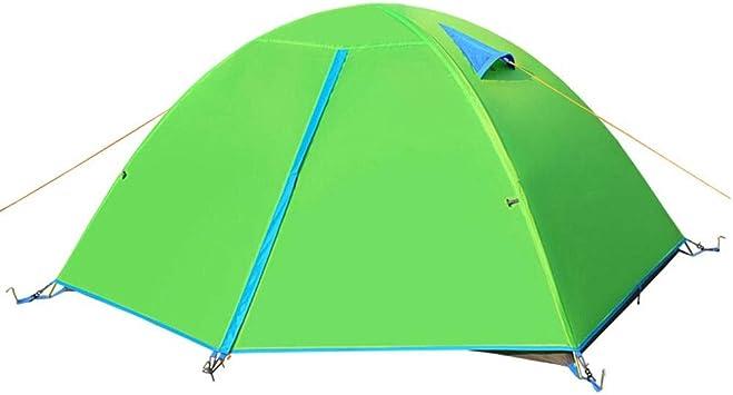 DGLLO Tienda de campaña para 2 personas con capacidad para 4 estaciones para acampar Senderismo Escalada en viajes: configuración fácil. Tienda al aire libre, Tienda doble Tienda de campaña al aire li: