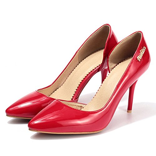 TAOFFEN Women Fashion D'Orsay Court Shoes Red-15 dKdvV