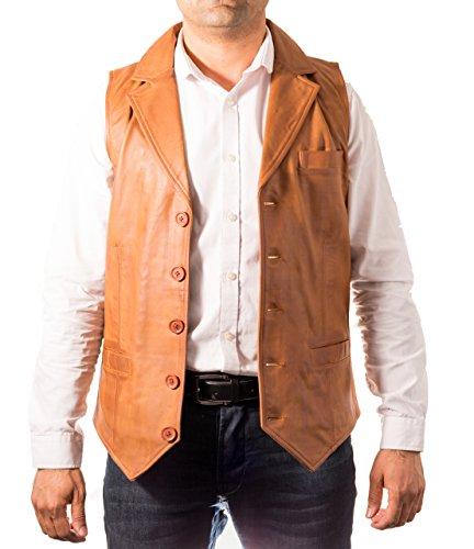 cuero Bronceador de de ajustado moda botones cinco Chaleco Cuello de hombre Camisa qZwxTrqP