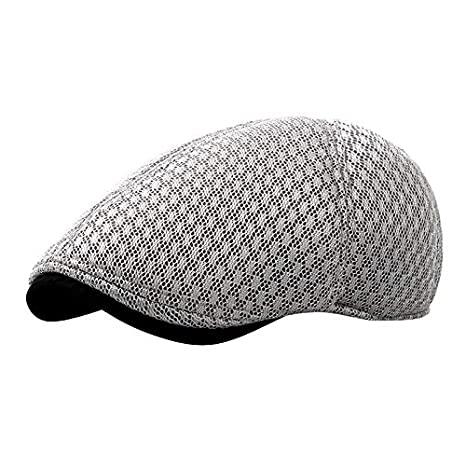 4a63b0f0 Image Unavailable. Image not available for. Color: Mink Monk Cabbie Newsboy  Style Flat Cap Gatsby Hat Breathable Boina Mesh Caps Spring Summer Autumn