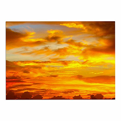 "hot sale 2017 KESS InHouse PB2016ADM02 Philip Brown ""Painted Sunset"" Orange Photography Dog Place Mat, 24"" x 15"""