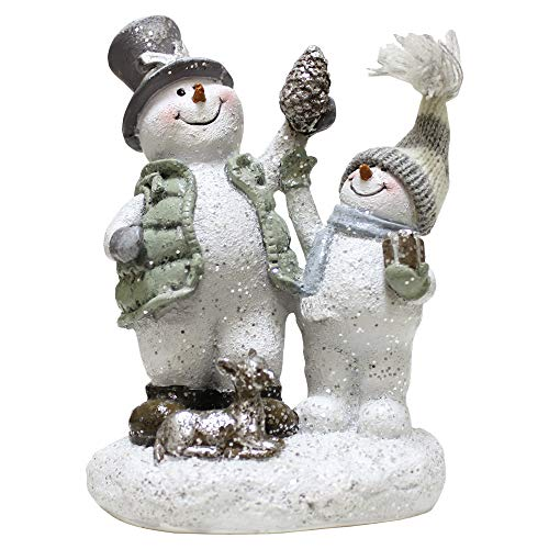 A Cheerful Giver A Crystal Willie Gathering Pinecones Figure, Multi