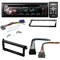 PIONEER DEH-X2900UI SINGLE DIN CD/AM/FM AFTERMARKET CAR STEREO RECEIVER RADIO INSTALL KIT+ DASH KIT+ WIRE HARNESS FOR SELECT CHRYSLER PLYMOUTH EAGE DODGE JEEP VEHICLES