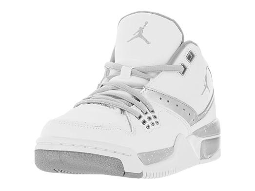 reputable site f3183 712e6 ... hot nike jordan kids jordan flight 23 bg white mtllc silver mtllc slvr  basketball shoe 33015