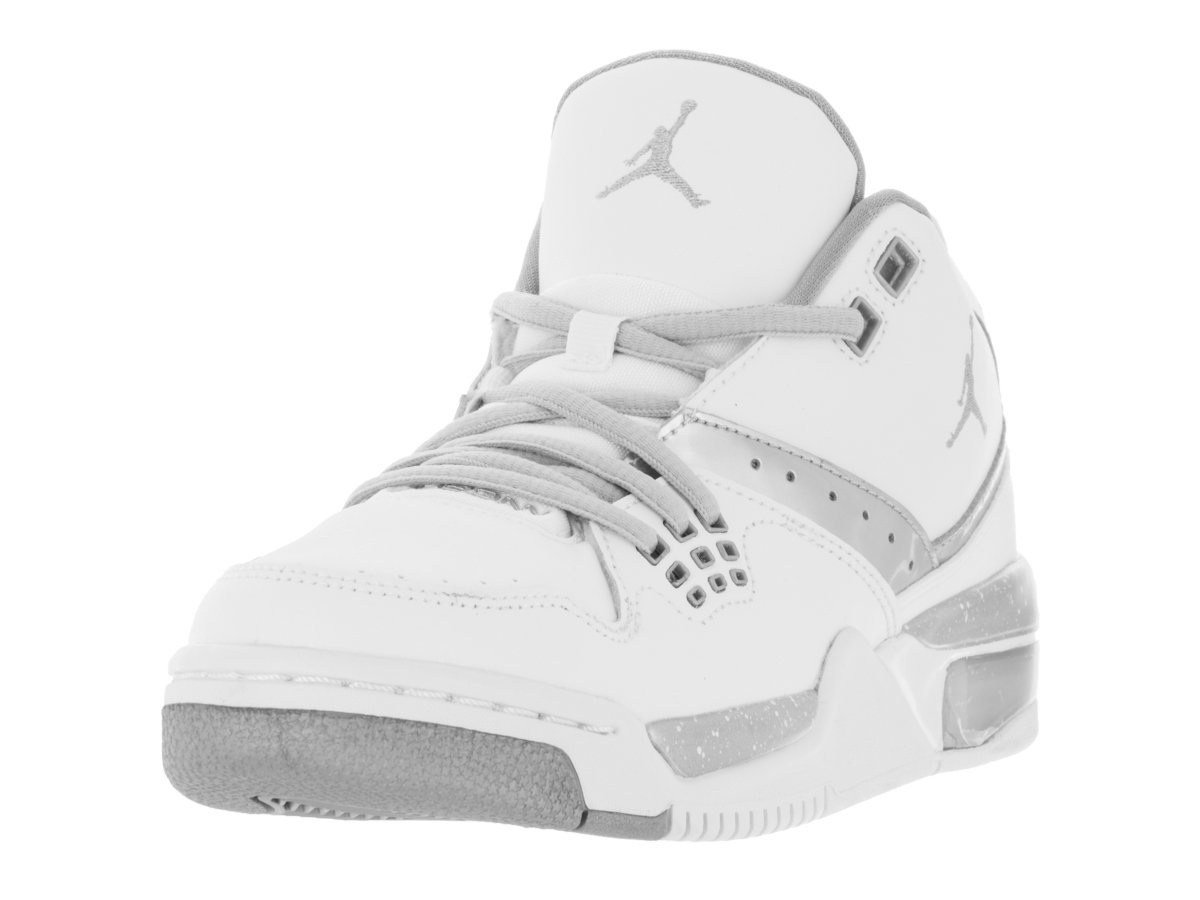 cf684962133e Galleon - Nike Jordan Kids Jordan Flight 23 BG White Mtllc Silver Mtllc  Slvr Basketball Shoe 5 Kids US