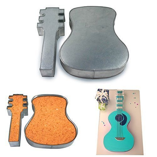 Cool Cake (Two Piece Large Guitar Shape Cake Tin Pan for Birthday Novelty Fun Cake Mould by Protins)