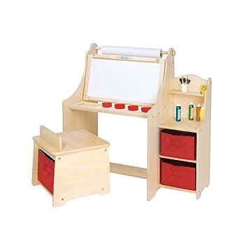 Guidecraft Artist Children S Activity Desk With Bins For Drawing