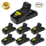 Mouse Trap, Mouse Snap Trap, Mice Rodent Rat Killer Catcher- Effective and Sanitary traps (6 PACK)