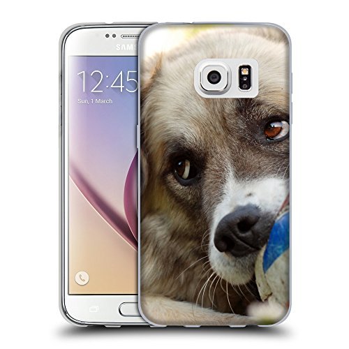 Printed Soft Flexible TPU Slim Fit Cover Case // V00005333 Dog chews the ball // Samsung Galaxy S7 (Not Fit S7 EDGE)
