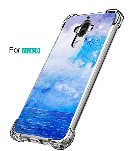 Price comparison product image Huawei Mate 9 Case Vanki Thin Soft TPU Shockproof Design Protective Back Cover (Color8)